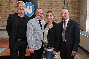 Robert-Riedl (PERI-Group), Rudi Kaske (Arbeiterkammer), Birgit Bernhard (Welldone) und Hanns Kratzer (PERI-Consulting)