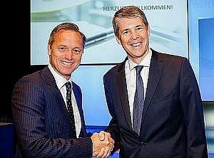 Ehemaliger und neuer Präsident: Robin Rumler mit Martin Munte;