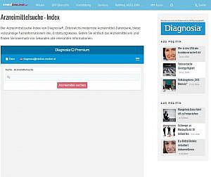 Arzneimittel-Suche auf medonline.at