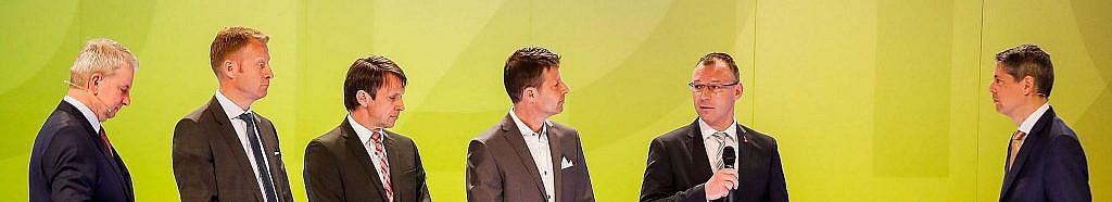 Die neuen Vorstandsmitglieder mit Präsident und Generalsekretär Credits: Pharmig/Christian Husar