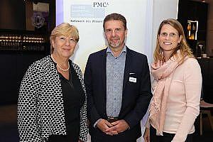 Wirthumer-Hoche mit Dallinger und Moderatorin Erika Sander